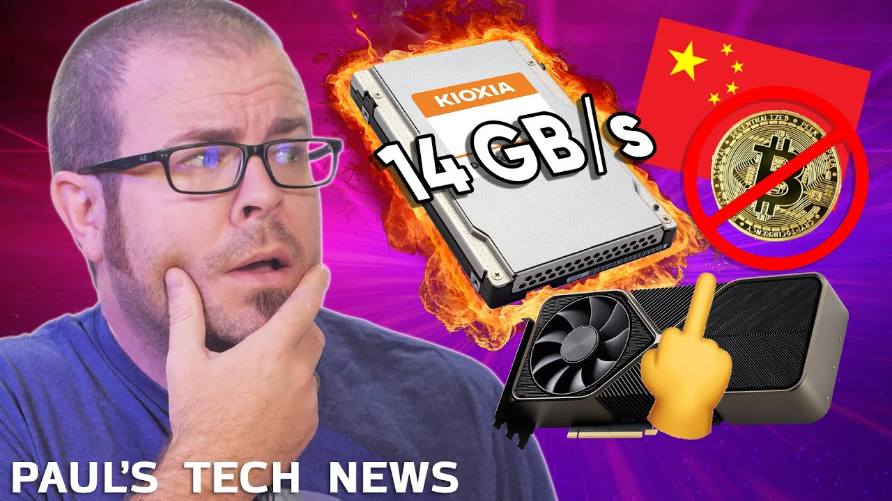Gen5 SSD hits 14GB/s, GPU Prices Worse, China Bans Crypto – Tech News Sept 26